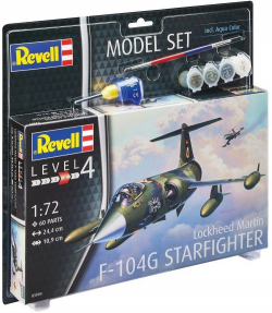 Plastový model Revell F-104 G Starfighter Model Set 1/72, 63904