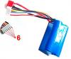 Náhradné diely G.T. Model, batéria LiPo 14.8V 1500mAh, 6-pin, GTM/QS8006-014