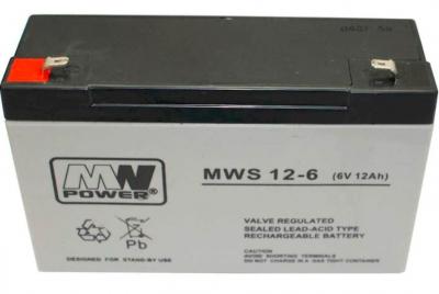 Gelová Batéria MN POWER Pb 6V 12Ah bezúdržbová