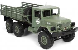 RC Vojenský nákladný automobil na diaľkové ovládanie WPL B-16, 6x6, 2.4GHz