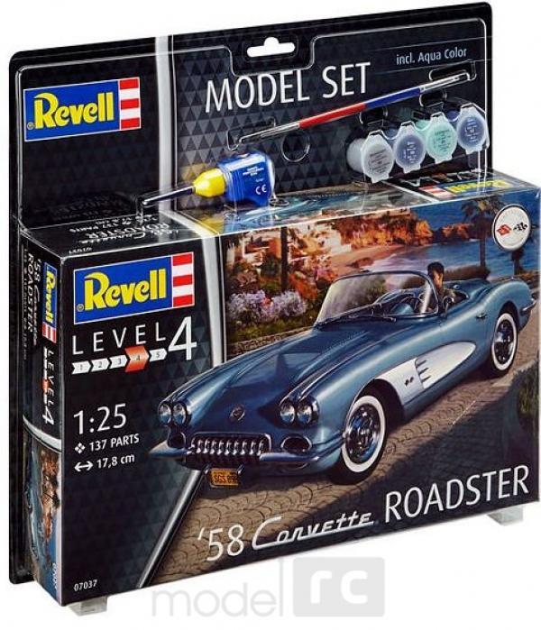 Plastový model Revell Corvette Roadster '58 Model Set 1/25, 67037