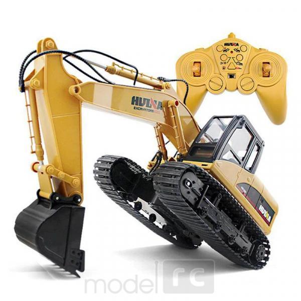 RC Pracovné stroje, Bager + Vyklápacie auto, HUINATOYS, set 2.4GHz