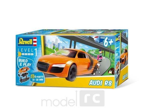 Plastikový model na skladanie Revell Audi R8 Build&Play 1/25, 06111
