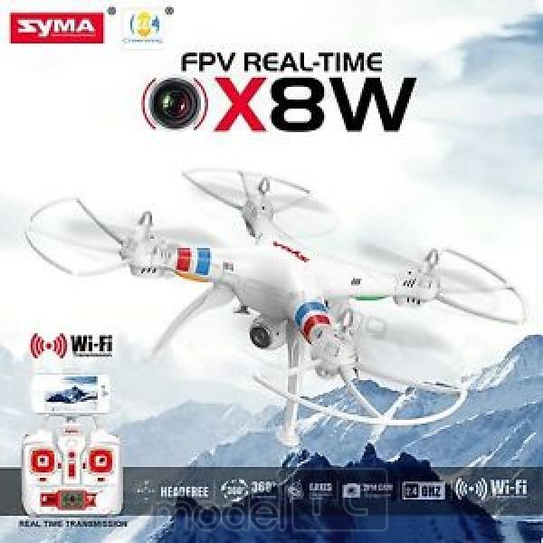 RC dron na ovládanie Syma X8W s kamerou WiFi online FPV prenos, biela