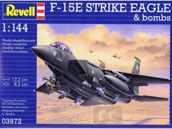 Plastový model Revell F-15E Strike Eagle & Bombs Model Set1/144, 63972