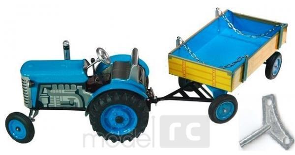 KOVAP Traktor ZETOR s valníkem modrý, hračka