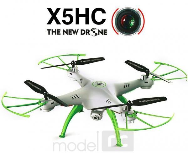 RC kvadrokoptéra Syma X5HC s HD kamerou 2MP, 2,4GHz, zeleno biela