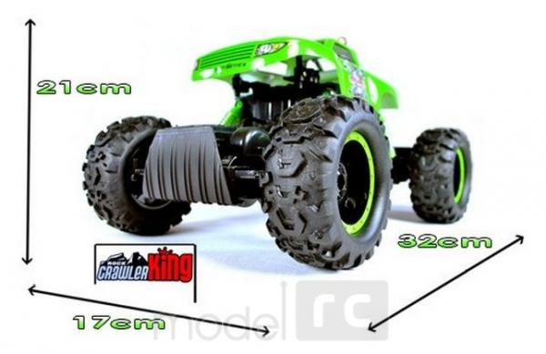 RC hračka na diaľkové ovládanie Crawler King 4WD, 1:12 červená