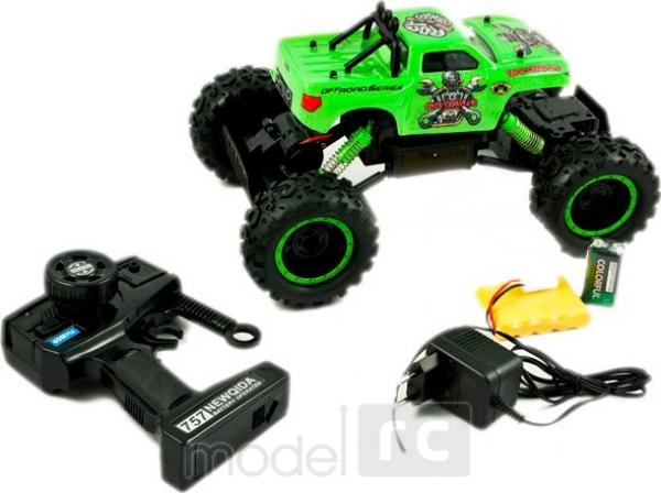 RC hračka na diaľkové ovládanie Crawler King 4WD, 1:12 zelená