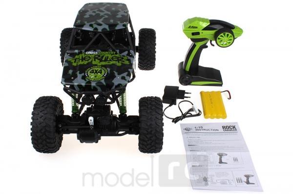 ROCK CRAWLER 4WD, 2.4 GHz, 1:10 zelená