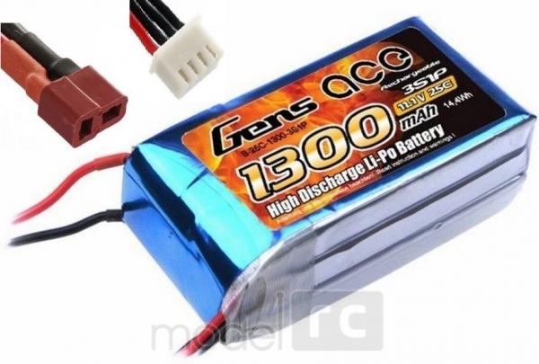 Náhradná batéria Gens Ace Li-Po 1300mAh 11.1V 25C