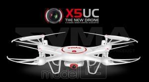 RC kvadrokoptéra Syma X5UC, kamera 1MP, 2.4GHz, funkcia vznášania a plánovanie trás, biela