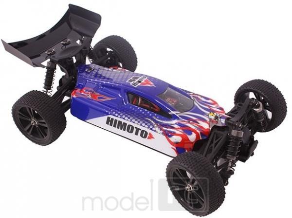 RC auto HiMoto Tanto E10XB 2,4GHz, 1:10 modro červené