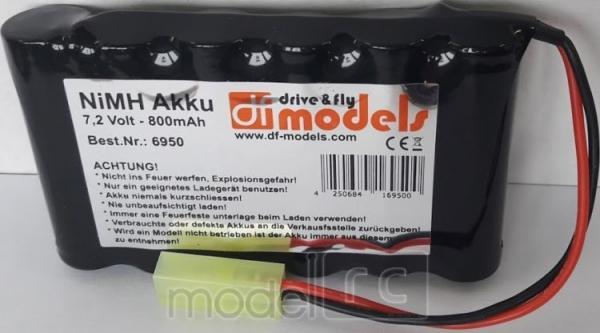 Náhradný akumulátor NiMh 7.2V 800mAh, df-models AKKU 6950