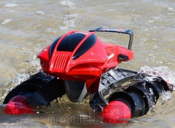 RC Obojživelník Amphibious Aqua Stunt Car, červený