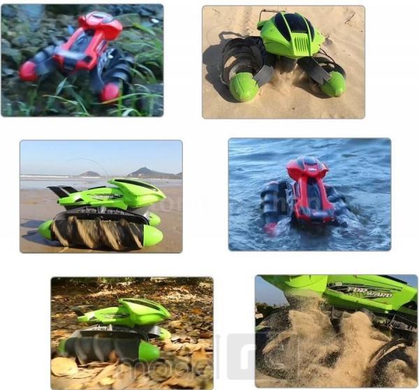 RC Obojživelník Amphibious Aqua Stunt Car, 2,4GHz zelený