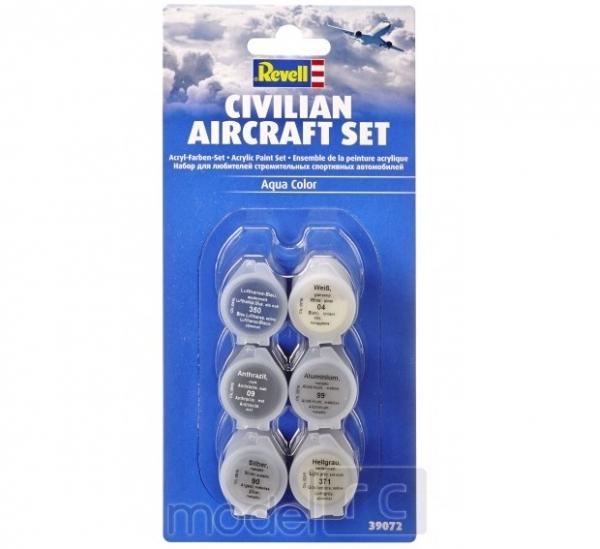 Revell Aqua Color Civilian Aircraft Set 6x5ml, 39072