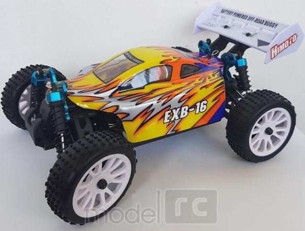RC auto Himoto Buggy EXB-16 HSP Troian 2,4 GHz, 4x4, 1:16 žltá
