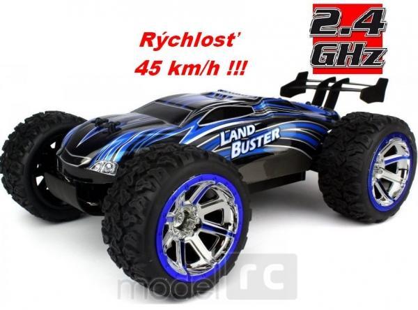 RC hračka na diaľkové ovládanie NQD Land Buster 1:12 Monster Truck modrý 2.4GHz