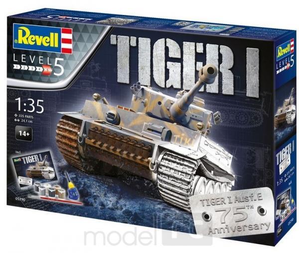 Plastový model Revell Pz.Kpfw. VI Tiger 75 Years Gift-set 1/35, 05790