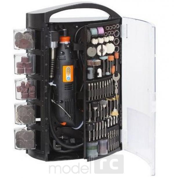 Elektrická mini vŕtačka PG Mini PG141W + 300 ks nástrojov s kufríkom