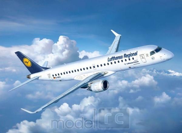 Plastový model Revell Embraer 190 Lufthansa Model Set 1/144, 63937
