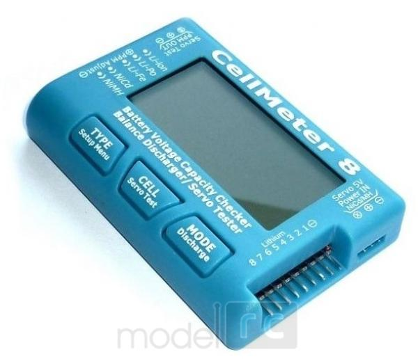 CellMeter 8, merač napätia batérií, tester jednotlivých článkov