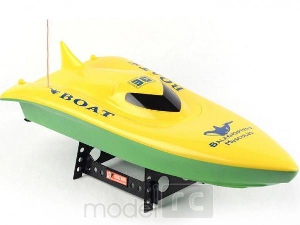 RC rýchlostný čln Volvo Racing 7002 Boat žltý