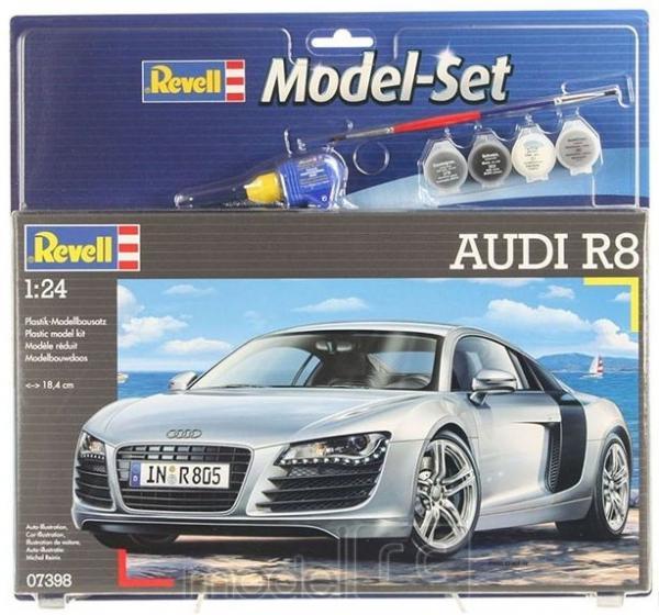 Plastový model na lepenie Revell Audi R8 Model Set 1/24, 67398