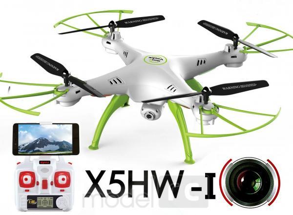 RC dron na diaľkové ovládanie Syma X5HW-1, WiFi FPV, kamera HD, 2.4GHz , zelen