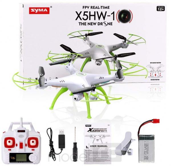 RC dron na diaľkové ovládanie Syma X5HW-1, WiFi FPV, kamera HD, 2.4GHz , zelená