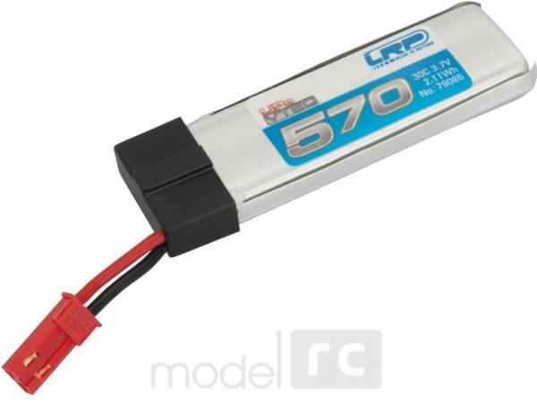 Náhradná batéria LRP/79086 570mAh 3.7V 30C LiPo JST, Blade 120SR