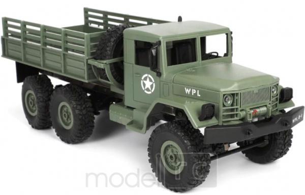 RC Vojenský nákladný automobil na diaľkové ovládanie WPL B-16, 4x4, 2.4GHz