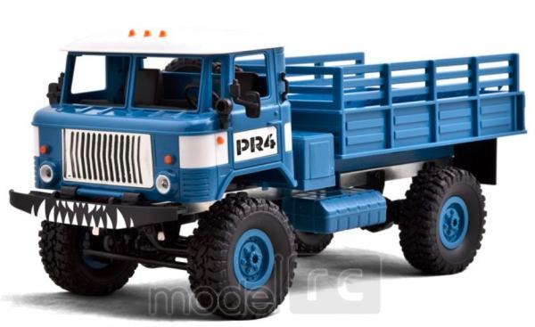 RC Vojenský nákladný automobil na diaľkové ovládanie WPL B-24, 4x4, 2.4GHz modrý